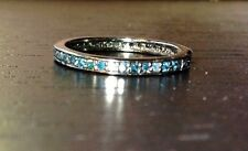.80CTW Blue Diamond Black Rhodium over Sterling Silver 925 Eternity Ring Band 7