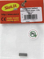 SLOT IT SISP23 TUNGSTEN BALLAST WEIGHT 2.5gram BAR NO LEAD 1/32 SLOT CAR PART