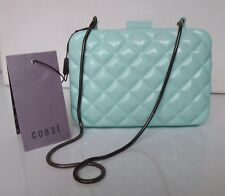 New Coast chic clutch small bag Snake chain Pastel Pale Blue aquamarine green