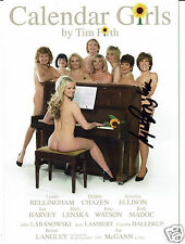 Lynda Bellingham Actress Hand Signed Theatre Card Calendar girls 8 x 6