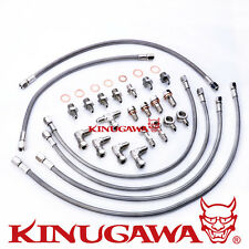 Kinugawa Nissan RB26DETT Skyline GTR Twin Turbo Oil & Water Line Fit Stock TB25