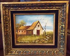 WALLING Stunning Original Oil Painting In Frame-cottage II