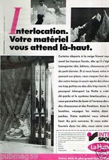 Publicité advertising 1986 Les Magasins de Sport La Hutte Intersport Ski