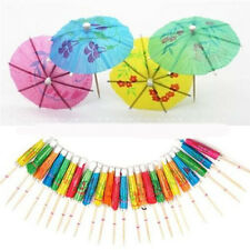 50xPaper Cocktail Parasols Umbrellas Party Wedding Supplies Luau Drink Stick WK