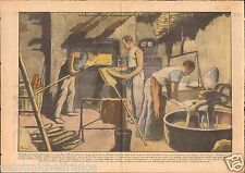 Four de Boulanger Baker Bread Fournil Boulangerie Pain France 1938 ILLUSTRATION