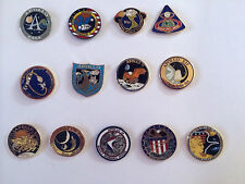 Apollo Program Lapel Pin Set 1,7,8,9,10,11,12,13,14,15,16,17 Armstrong Buzz
