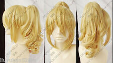 Hot sell Popular New Fashion long Blonde Cosplay Wig With Ponytail