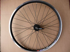 "FRONT 26"" MTB Black Alloy Bike Wheel Bicycle New Black Rim Quando Disc Mount Hub"