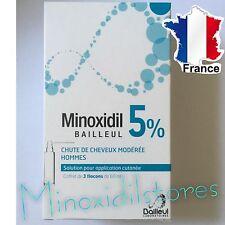 Minoxidil BAILLEUL 5 % Traitement Anti Chute Perte Repousse Cheveux  3  Mois