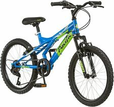 Pacific Evolution 20 Inch Boy's Mountain Bike steel frame 18 speed  Blue