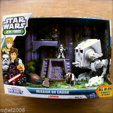 STAR WARS Jedi Force MISSION ON ENDOR 2 Vehicles 4 Guys PLAYSKOOL HEROES Hasbro