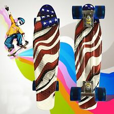 Graphic US Flag Drift Skateboard Fish Cruiser Drifting Complete Penny Boards