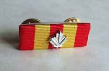 Canadian Fire Services Exemplary Service Undress Ribbon Bar + Silver Maple Leaf