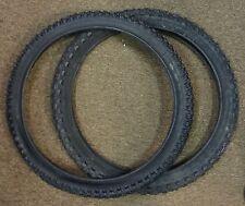 Redline Tires Pair 20 in 20x1.75 & 2.0 for BMX Old Mid School Bike RL Logo