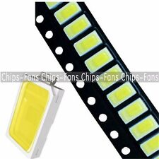 50PCS 120° SMD SMT -EE132 5730 White 6050-7000K LED Light Bead 50-55LM 3.3V-3.6V