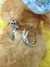Charming Women Gothic Cute Animal Rings Cat Kitty Shaped Metal Silver Color PECA