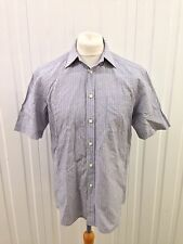 "Mens M&S Collezione Shirt - 15.5"" - Short Sleeved - Linen Blend Great Condition"
