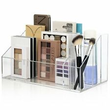 Makeup Palette Organizer Acrylic Cosmetic Case Women Brush Holder Storage Box