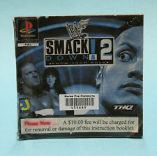 INSTRUCTION BOOKLET/MANUAL ONLY FOR SMACK DOWN 2 KNOW YOUR ROLE PS1 ⭐OZ SELLER⭐