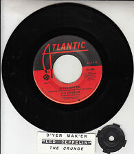 "LED ZEPPELIN  D'yer Mak'er & The Crunge 7"" 45 rpm record + juke box strip NEW"