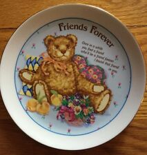 Heirloom Editions by: Paula Porcelain TEDDY BEAR FRIENDS FOREVER Plate