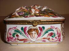 Exquisite  Antique circa 1870`s Capodimonte  porcelain box