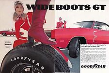 1969 DODGE HEMI CHARGER  ~  ORIGINAL 2-PAGE GOODYEAR AD