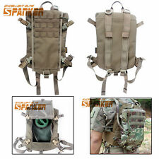 2L Molle Hydration Water Bladder Backpack Pouch for Tactical Vest Coyote Brown