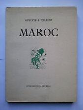 """Gustave J. NELLENS """" MAROC """" E.O. sur Vélin avec Dessins de Félix LABISSE, 1960"""