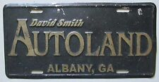 1990's ALBANY, GEORGIA DAVID SMITH AUTOLAND DEALERSHIP BOOSTER License Plate