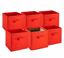 Foldable Storage Cube Bins, PACK OF 6 - Attractive Storage Solution for any Room