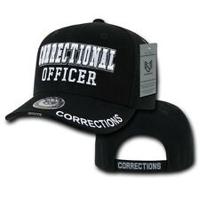 Black Correctional Officer Detention Corrections Police Baseball Ball Cap Hat