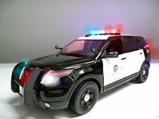 "1/18 Scale LAPD Los Angeles POLICE PI SUV FORD EXPLORER ""WORKING LIGHTS"" SIREN"