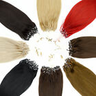 100% Echthaar Microring Extensions,Haarverlängerung STRÄHNE Haar 1 gramm 50cm
