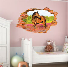 3D Ferghana Horse Removable Wall Sticker/Decal Home/Rome Decoration Decor Art