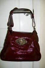 ESCADA-burgundy patent leather hand/shoulder bag.Medium.Dustbag.Slightly used.