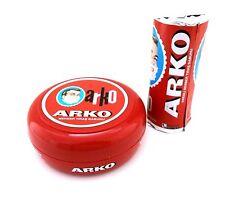 Arko Shaving Soap in Bowl 90 gr (3.17 oz)  with Arko Stick Soap 75 gr (2.64 oz)