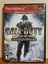 CALL OF DUTY WORLD AT WAR FINAL FRONTS VIDEO GAMES SONY PLAYSTATION 2