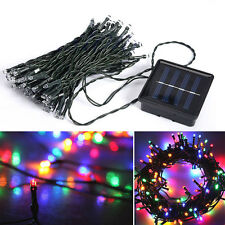 200 LED Outdoor Solar Power String Light Garden Christmas Fairy Lamp Colorful DC
