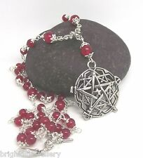 Fire of the Forge Brigid's Pentagram Rosary Pagan Jewellery - Made to Order