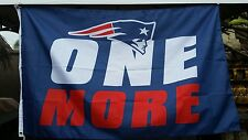 New England Patriots flag, ONE MORE Super Bowl champ banner, Blue Polyester
