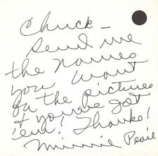 MINNIE PEARL - AUTOGRAPH LETTER SIGNED