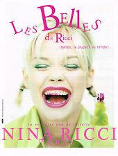 PUBLICITE ADVERTISING 124  1996  NINA RICCI  eau de toilette LES BELLES 2