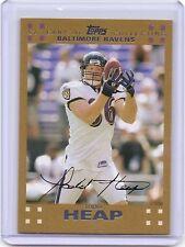 Todd Heap 2007 Topps GOLD Border Ser#d 04/52  Baltimore Ravens