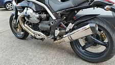 Moto Guzzi Griso Stainless oval Carbon outlet Road Legal MTC Exhaust