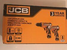 JCB 12V DRILL DRIVER AND IMPACT DRIVER KIT JCB-DTP12LI2 Brand-New