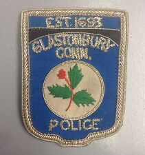 """Connecticut CT Glastonbury Police Force Bullion Patch 3.25"""" X 2.5"""" Made in USA"""