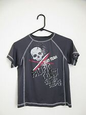 Ocean Pacific Short Sleeve Rash Guard Top - Youth Size S (6-7) Gray