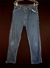 VINTAGE 1970'S BIG SMITH BLUE COTTON DENIN CARPENTERS PANTS  SIZE 32 INCH WAIST