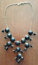 J Crew Midnight Black Bubble Necklace